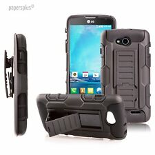 ARMOR RUGGED HYBRID HARD CASE COVER HOLSTER STAND FOR LG OPTIMUS L90 D410 D415