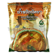 Authentic thai premium vert pâte de curry (1kg) par nittaya-vendeur britannique (C040)