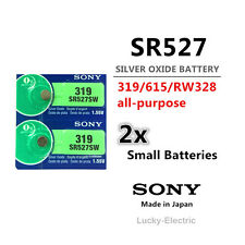 2 pieces Sony SR527SW/319/615 1.55V Button Coin Cell Silver Oxide Battery