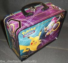 Pokemon XY Collector's CHEST Tin Empty 2015 Pikachu Hoopa LUNCH BOX