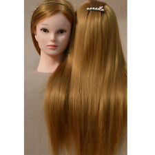 "26"" 30% Real human hair Practice Training Head Hairdressing Mannequin + Clamp"