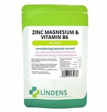Cinc, magnesio y vitamina B6 (90 Pack) hecho en Reino Unido