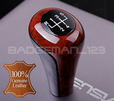 BMW MANUAL NEW WOOD & LEATHER 5 SPEED GEAR KNOB SHIFT E30 E36 E46 E39 E34 Z3