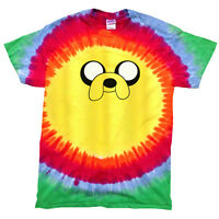 Adventure Time Jake The Dog Tie Dye T-Shirt - Rainbow Hippie Retro Kids Mens Top