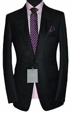 TOM FORD ITALY BNWT MENS SILK CASHMERE MOHAIR BLACK HANDMADE SUIT UK 38R W32 L34