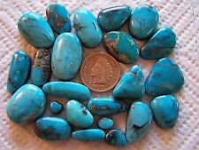 23 Kingman Turquoise Cabochons 200 carats Arizona American Cabs Wholesale Lot