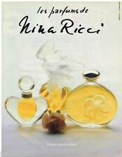 PUBLICITE ADVERTISING 095  1985  NINA RICCI   les parfums en flacon LALIQUE