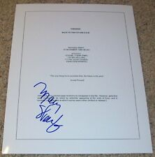 MARY STEENBURGEN SIGNED AUTOGRAPH BACK TO THE FUTURE 3 III SCRIPT w/EXACT PROOF