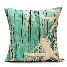 Ocean Coastal Beach Nautical Throw Pillow Case Cushion Cover Sofa Home Decor