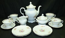 17Pc Royal Kent Floral Tea Coffee Set Teapot Creamer Sugar 4 Cup Saucer & Plates