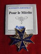GÖDE Orden POUR LE MÉRITE MINIATUR ca.4cm x ca.4cm