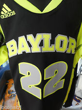 Adidas NCAA Baylor Bears Youth Football Jersey #22 Bright Green Camo NWT $70 L
