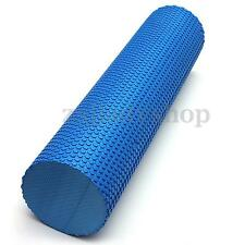 90x15cm BLUE EVA PHYSIO FOAM ROLLER YOGA PILATES EXERCISE BACK HOME GYM MASSAGE