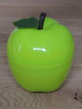Bac à glaçons en forme de pomme verte avec sa feuille. Années 70. VINTAGE. VERT