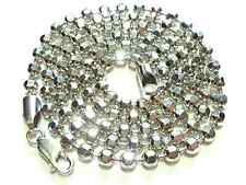 """23+ GRAMS DISCO BEAD BALL STERLING SILVER 24"""" WOMENS CHAIN NECKLACE FOR PENDANT"""