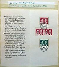 #1528# - Gedenkkarte mit 4 Briefmarken (Minnesfrimärken) aus Schweden