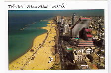 TEL AVIV POSTCARD City Hotels & Sea Shore Beach, Souvenir from Israel Holy Land
