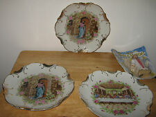 Storage Find.Lot 4 items.Jesus Porcelain Wall Plates,18K Stamped on One.