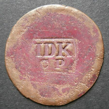 "Counterstamp/contremarque - ""idk cp"" on painted bronze? mince flan 0.8mm x 27mm"