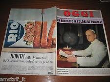 RIVISTA OGGI 1963/27=PAPA PAOLO VI=PETER SELLERS=MARCELLO MARCHESI=SORAYA=