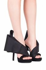 Jeffrey Campbell Tuxedo Bow Heels size 7 new in box black suede