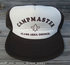 Vintage Boy Scouts Foam Trucker Snapback Hat Camp Master Alamo Council