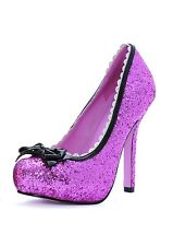 Glitter Sequin Shoes, Ellies Shoes (Leg Avenue), UK Size 3-7, Mary Jane, Pin-Up