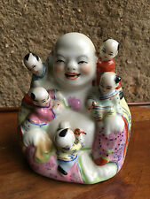 Antique Buddha Porcelain Chinese happy bouddha porcelaine Famille