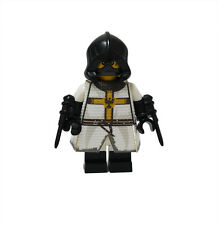 White Teutonic Order Knight Custom Printed Clothes for LEGO Castle Minifigure