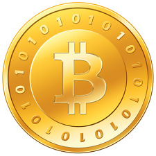 Bitcoins: 0.01 BTC loaded to bitcoin wallet (digital currency)