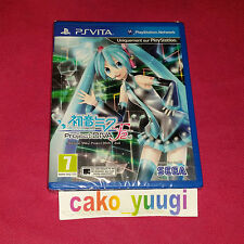 PROJECT DIVA F2ND PS VITA SONY VERSION FRANCAISE PLAYSTATION VITA NEUF NEW
