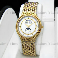 Men's Movado CERTA ANDANTE Calendar Triple Date Moon Phase Gold Vintage Watch