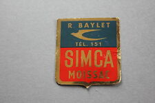 MA Ancien autocollant R BAYLET simca Moissac tel 151 60's garage