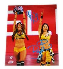 WWE BELLA TWINS NIKKI & BRIE SIGNED AUTOGRAPHED 8X10 PHOTO FILE PHOTO W/ COA 25