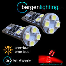 2X W5W T10 501 CANBUS ERROR FREE RED 8 LED COURTESY LIGHT BULBS HID IL101601