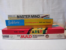 Old vtg Invicta MASTER MIND, Mad Magazine, Yahtzee, Careers Games