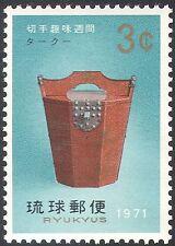 """Ryukyus 1971 """"Taku"""" Lacquered Box/Crafts/Art/Heritage/Stamp Week 1v (n42826)"""