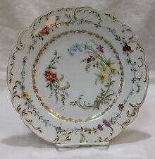 1888-1896 Haviland Limoges France Hand Painted Floral Porcelain Plate
