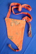 Orange or asymétrique épaule sac pompons zip perles hippy teen cadeau sac à main