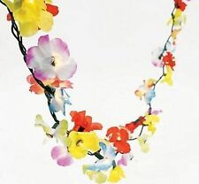 9ft LIGHT UP Luau Tropical Hibiscus Flower Lei Garland Beach Hawaiian Decor