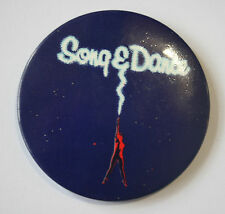 "SONG & DANCE Old/Vtg 1980`s Large Button Pin Badge(55mm-2.25"")Musical"