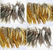 40Pcs 2mix Colors Grizzly Feathers hair for extensions Natural 6-8inch long D