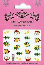 Christmas, Water Nail Sticker Tatoo, Weihnachten , W9