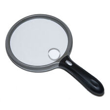 2X LED Lighted Magnifier with 6X Bifocal 5 Inch Lens