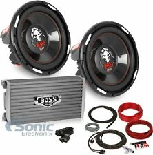 "Boss Bass Package P126DVC Dual 12"" Subwoofers + AR1600.2 Amplifier + Amp Kit"