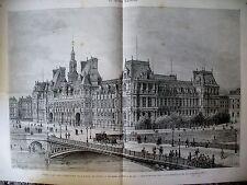 HOTEL DE VILLE DE PARIS EXPULSION DES JESUITES RUE DE SEVRES GRAVURES 1880