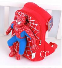 Children Toddler Kids Kindergarten Spiderman Plush Doll School Bag Backpack KID