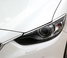ABS Chrome HeadLight Eyelid Trim O For Mazda 6 M6 Atenza 2014 2015