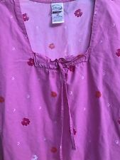 Disney Scrub Top 2XL Bambi Deer Thumper Bunny Flowers Pink Waist Pocket