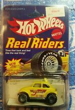 1983 Hot Wheels Real Riders #5907 VW Baja Bug Yellow,  GoodYears & Steel Wheels